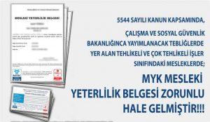 mesleki yeterlilik belgesi zorunluluğu 2017